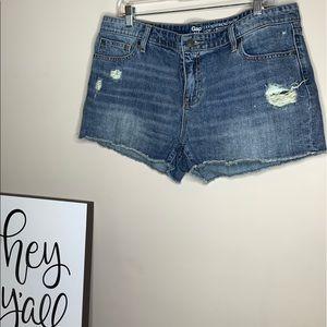 Gap Distressed Sexy Boyfriend Fit Jean Shorts